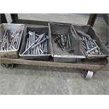 LOT - CONTENTS ONLY OF CART, TO INCLUDE: TOOLING AND STEEL ROD