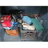 LOT - CONTENTS ONLY OF CABINET, TO INCLUDE: AUTO SUPPLIES AND PAINTING ITEMS, ETC.
