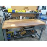 """BUTCHER TOP WORKBENCH, 60"""" X 30"""", CONTENTS NOT INCLUDED"""
