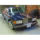 1991 ROLLS-ROYCE SILVER SPIRIT – ROYAL BLUE, 6.8 LIT. AC AND ALL SYSTEMS FULLY FUNCTIONAL,