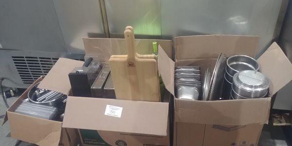 Lot 50 - 3 Boxes of Misc. Inserts, Salad Spinner, ETC