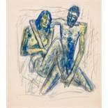 Fritz Wotruba (Wien 1907 - 1975 Wien)  (ohne Titel)  Mischtechnik auf Papier 29 x 26 cm 1931/1932
