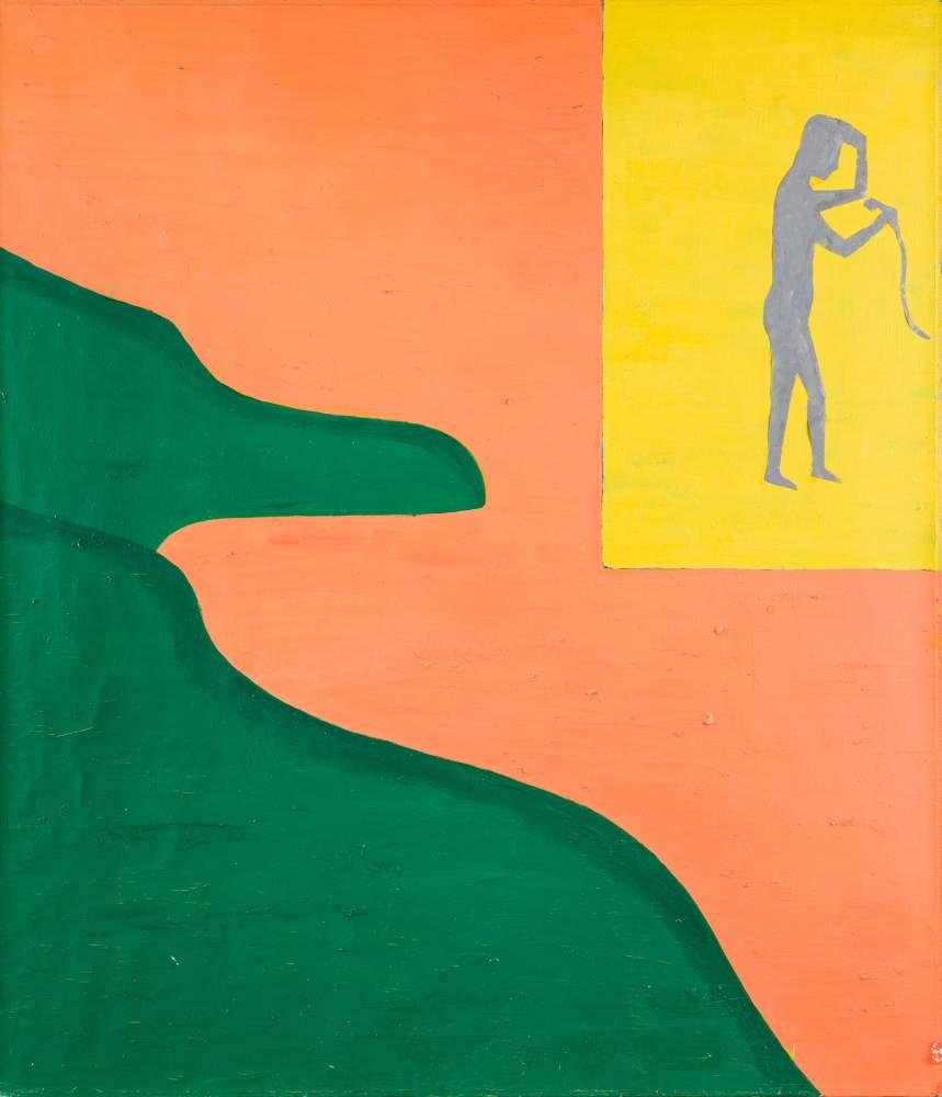 Hubert Schmalix * (Graz 1952 geb.)  (ohne Titel)  Öl auf Leinwand 150,5 x 130 cm 1986 rückseitig