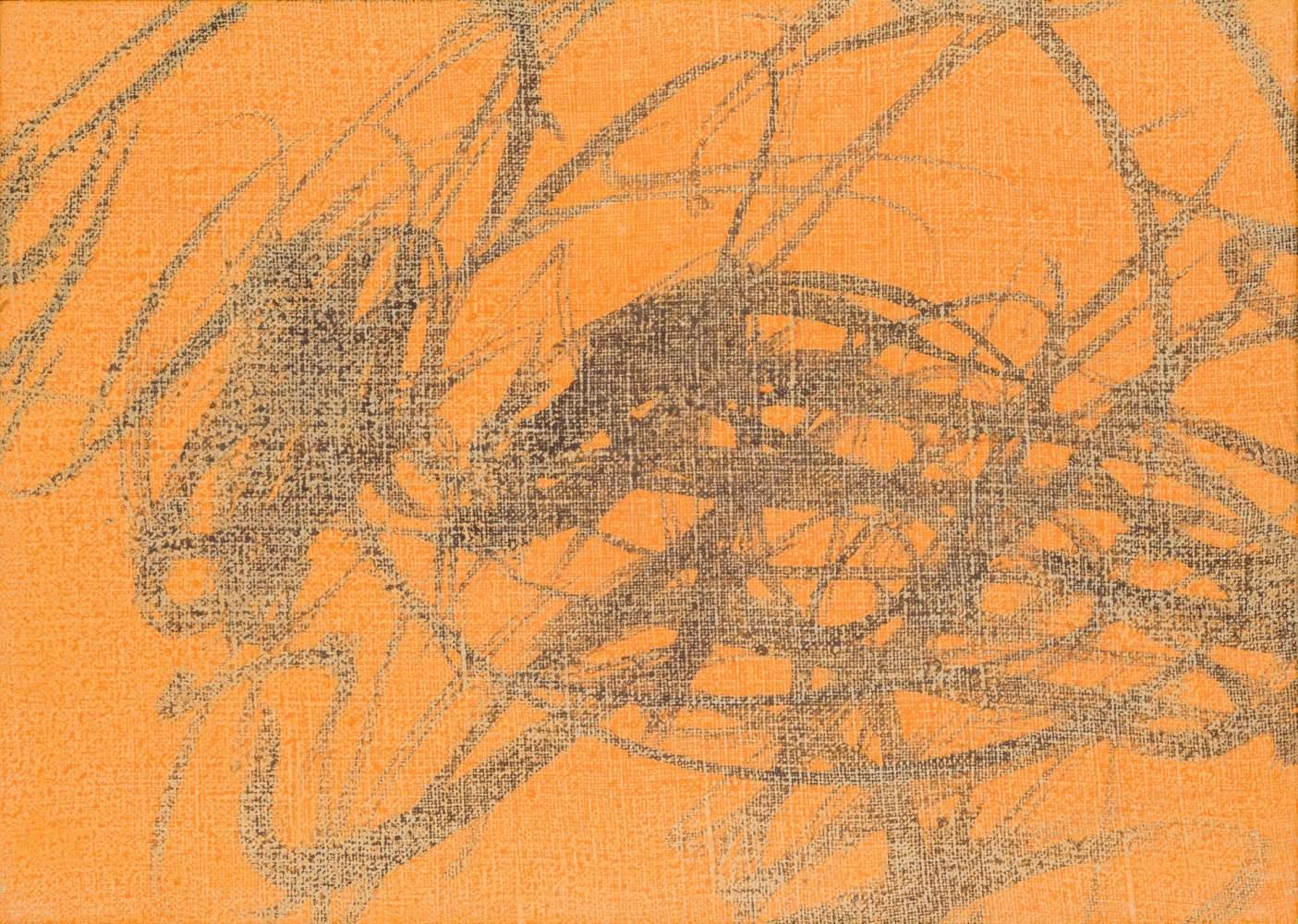 Josef Mikl (Wien 1929 - 2008 Wien)  Landschaft Öl auf Leinwand 25 x 35 cm 1963 rückseitig am