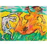 Otto Mühl * (Grodnau 1925 - 2013 Moncarapacho)  (ohne Titel)  Öl auf Leinwand 150 x 200 cm 1984