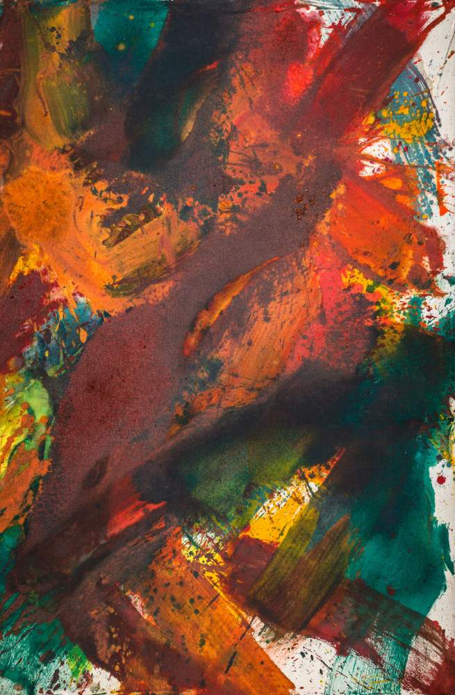 Franz Grabmayr * (Pfaffenberg bei Obervellach 1927 - 2015 Wien)  Tanzbild Acrylfarbe auf Molino