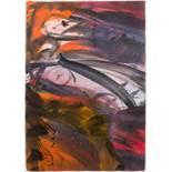 Josef Mikl (Wien 1929 - 2008 Wien)  Skizze zum Deckenbild im Großen Redoutensaal Öl auf Papier 101 x
