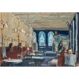 Georg Eisler * (Wien 1928 - 1998 Wien)  Café Sperl Öl auf Leinwand 116 x 164,5 cm wohl 1976 links