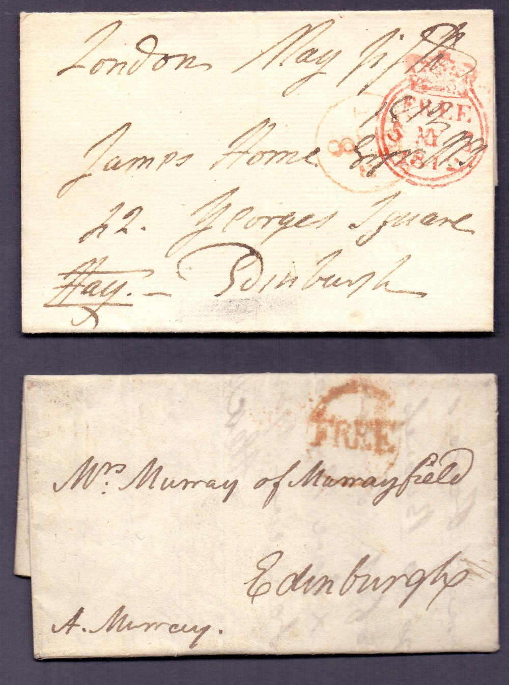 Lot 242 - GREAT BRITAIN POSTAL HISTORY : 1781 and