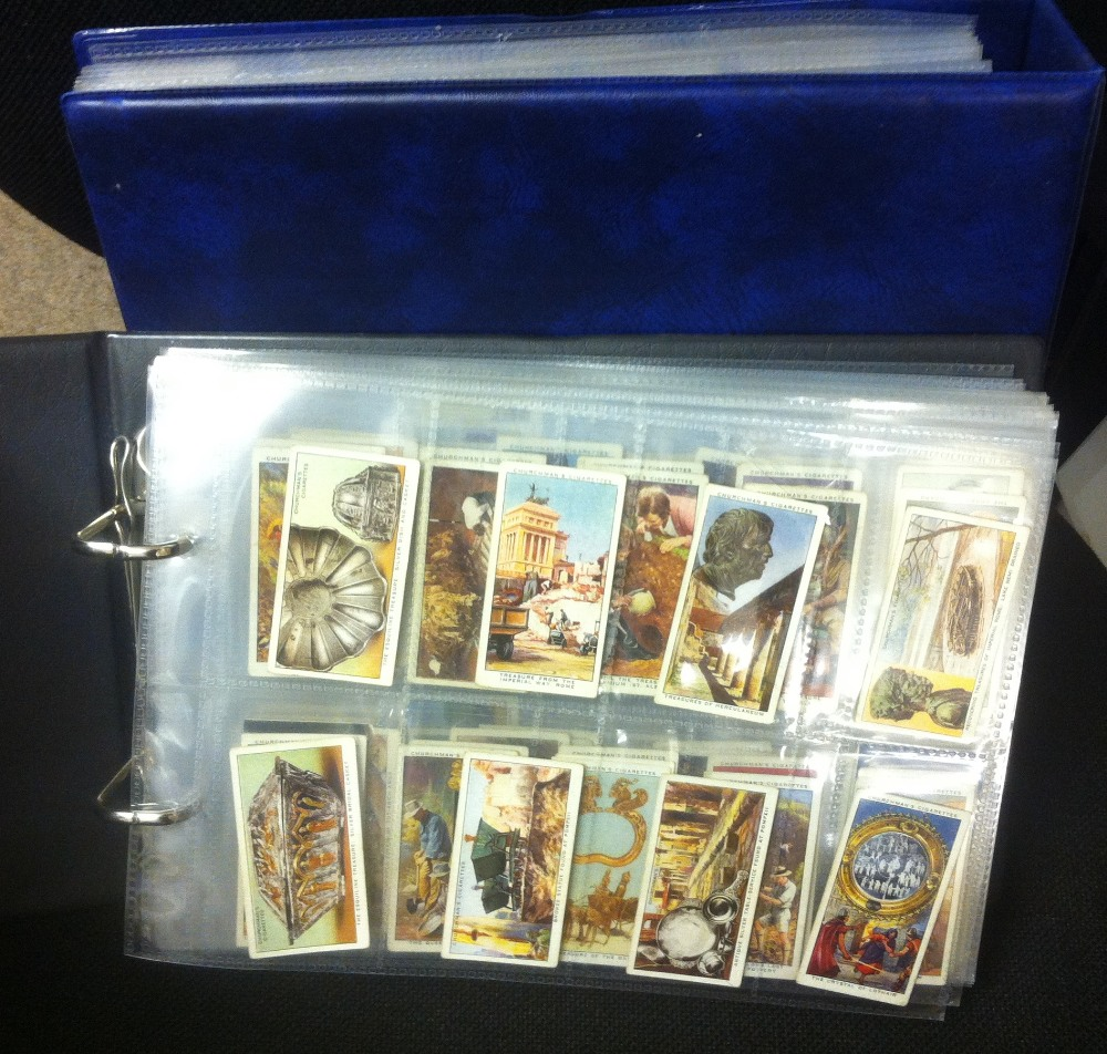 Lot 170 - CIGARETTE CARDS : Two albums of cigarett