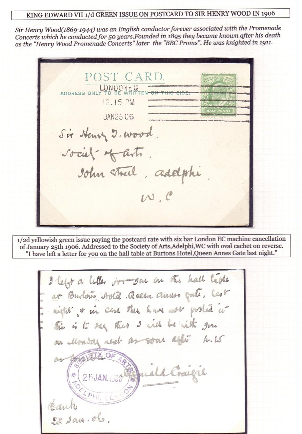 Lot 287 - GREAT BRITAIN POSTAL HISTORY 1906 Post c