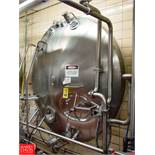 Cherry Burrell 3,000 Gallon Horizontal Jacketed S/S Tank Model HCW : SN 3000-57-CR7134, with 2""