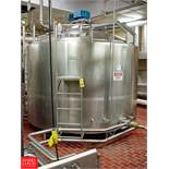 SCHERPING 3,000 GALLON Dome-Top Flat-Bottom Processor Model FBP-3000 : SN 91-83002, with Vertical