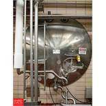 Cherry Burrell 5,000 Gallon Horizontal Jacketed S/S Tank Model GHW : SN 50-GHW-77-2932, with 3""