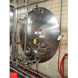 Cherry Burrell 3,000 Gallon Horizontal Jacketed S/S Tank Model HCW : SN 3000-57-CR7130, with 2""
