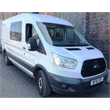 White Ford Transit 350 Econetic Tech Panel Van   Reg: BF16 XSY  7 Seater   Mileage: 46,808