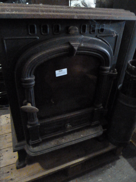 Lot 105 - Cast Iron Log Burner