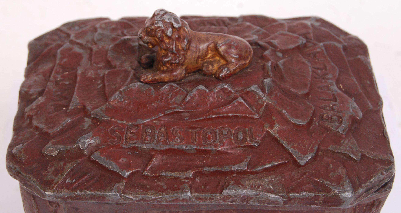Lot 22 - CRIMEAN WAR COMMEMORATIVE TOBACCO JAR