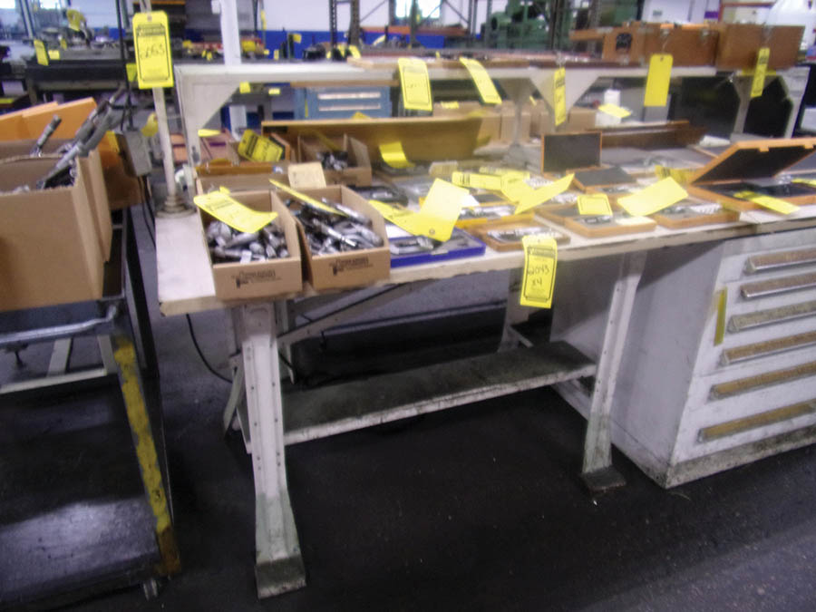 (3) WORKBENCHES, CART & SHELF UNIT