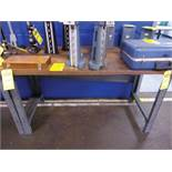 (2) WOOD TOP WORKBENCHES