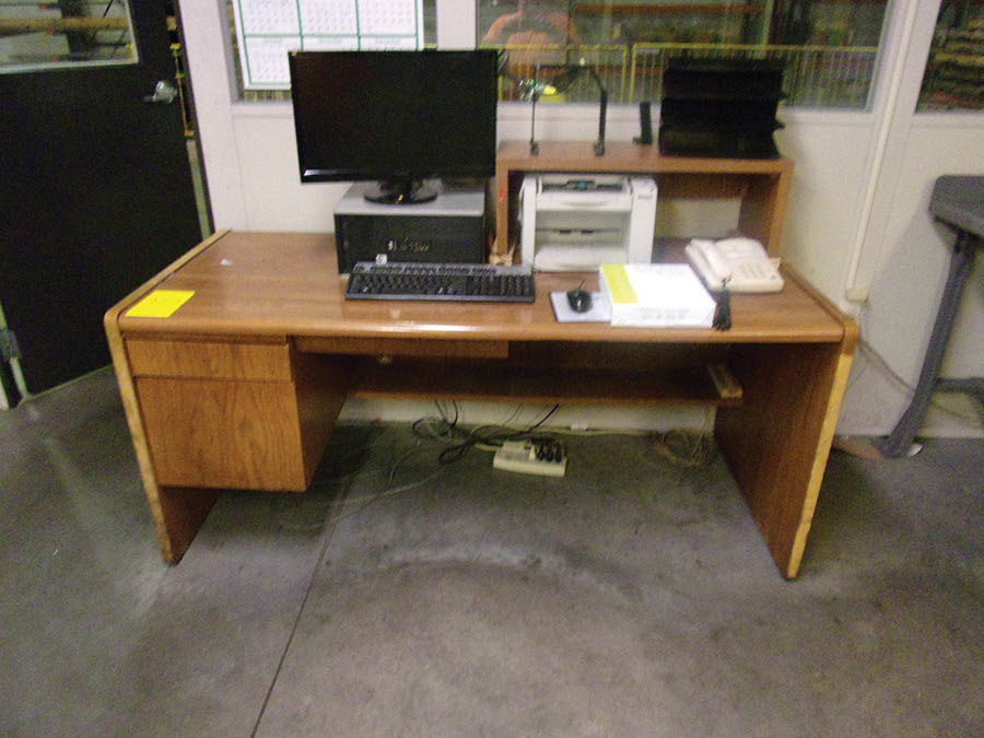 (4) DESKS, CHAIRS, (2) PC'S, (1) PANASONIC COPIER, LATERAL FILE CABINET - Image 3 of 3