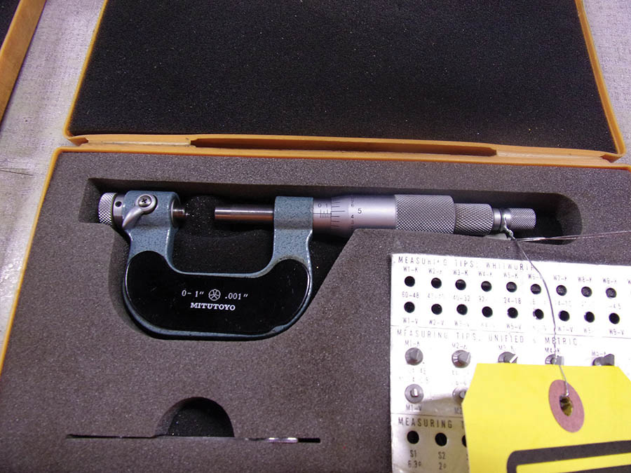 (3) MITUTOYO MICROMETERS 0-1'' AND 1-2''