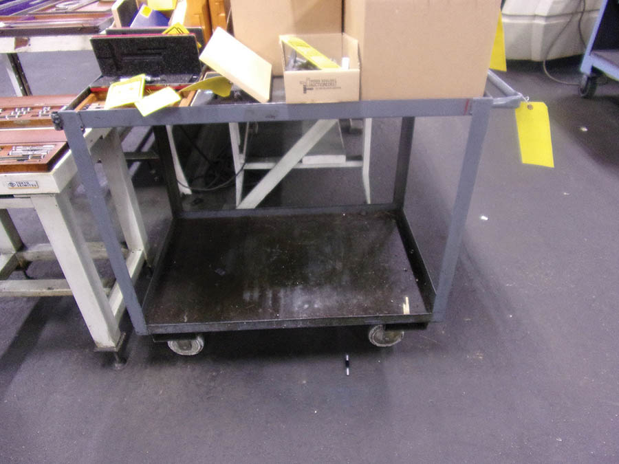 (3) WORKBENCHES, CART & SHELF UNIT - Image 2 of 4