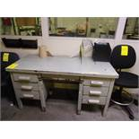 (4) DESKS, CHAIRS, (2) PC'S, (1) PANASONIC COPIER, LATERAL FILE CABINET