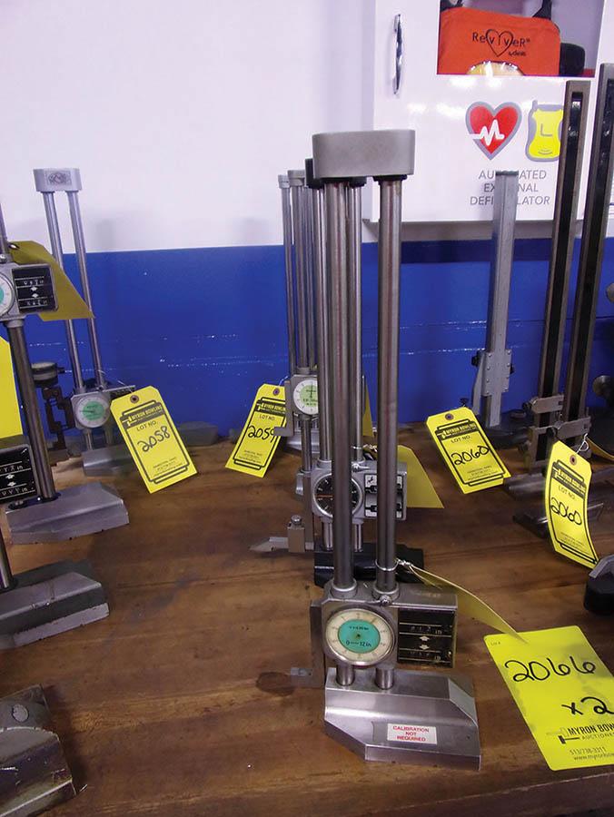 (4) HEIGHT GAUGES 0-12'' & 0-300 MM