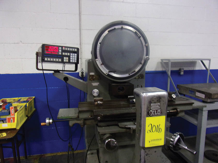 EX-CELL-O 14'' OPTICAL COMPARATOR, MODEL 14-814, S/N 8140305, AND ROCK OF AGES GRANITE SURFACE PLATE