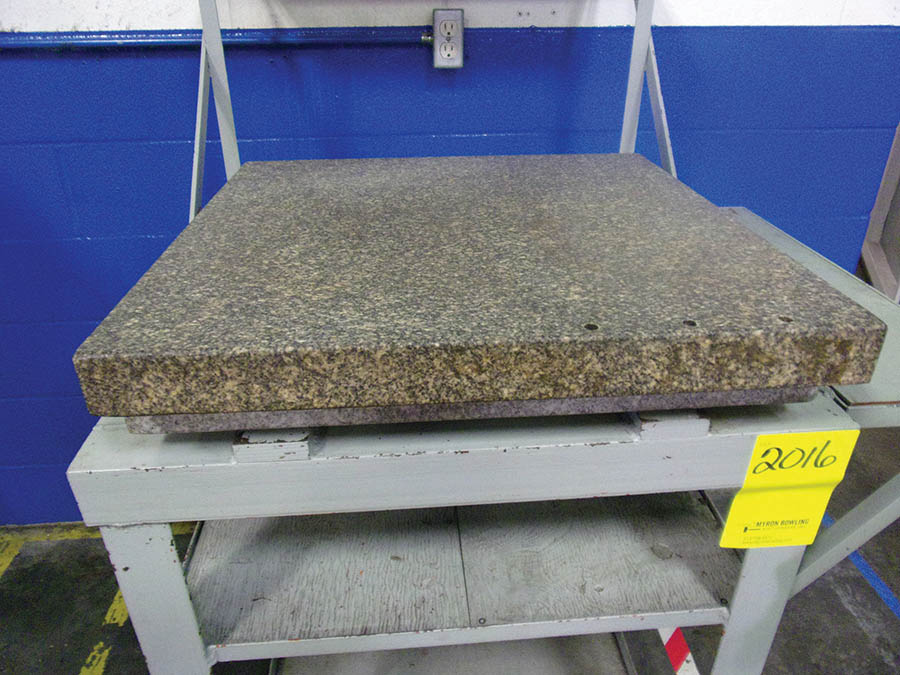 EX-CELL-O 14'' OPTICAL COMPARATOR, MODEL 14-814, S/N 8140305, AND ROCK OF AGES GRANITE SURFACE PLATE - Image 2 of 2