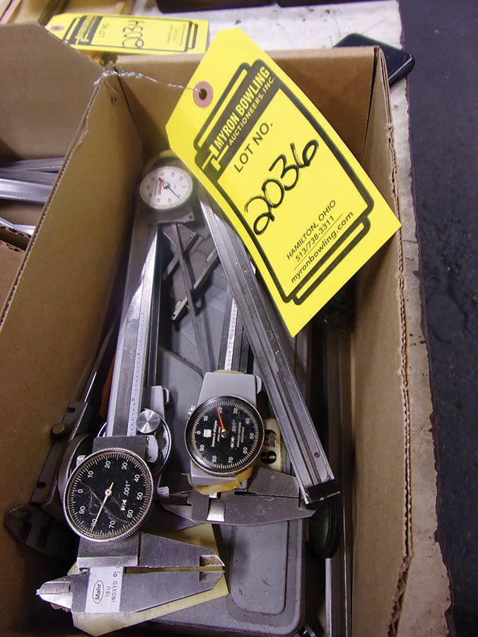 (3) BOXES WITH ASSORTED 6'' DIAL CALIPERS