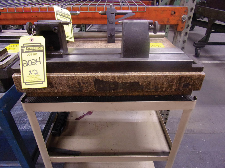 (3) GRANITE SURFACE PLATES, 24'' X 18'' X 4''-5'' - Image 2 of 3