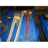 Lot 50 - Rigid Aluminum Pipe Wrenches, 26""