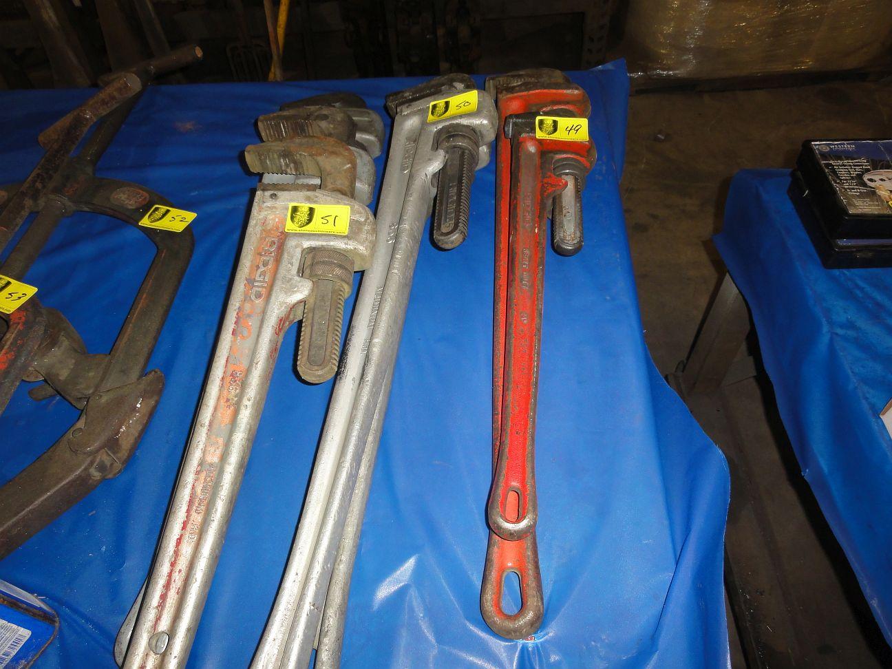 """Lot 50 - Rigid Aluminum Pipe Wrenches, 26"""""""