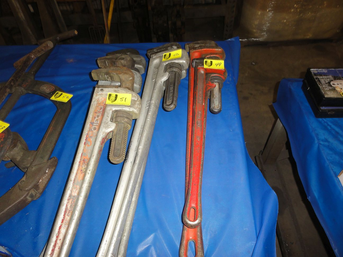 "Lot 49 - Rigid Pipe Wrenches, 1-36"" & 1-24"""
