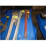 """Lot 51 - Rigid Aluminum Pipe Wrenches, 36"""""""