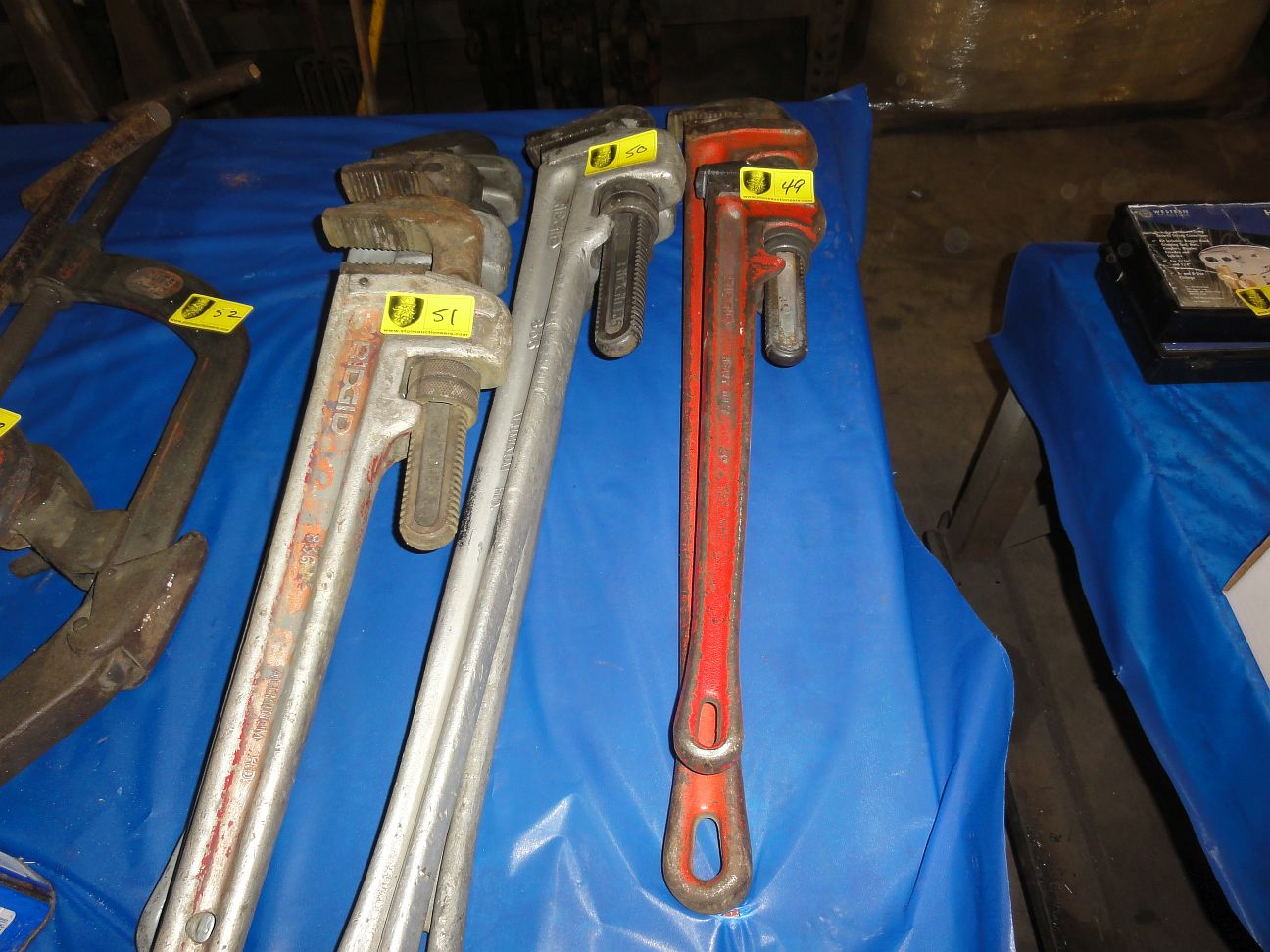 Lot 51 - Rigid Aluminum Pipe Wrenches, 36""