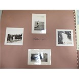 Lot 74 - An uncollated album collection of monochrome snapshot photographs,