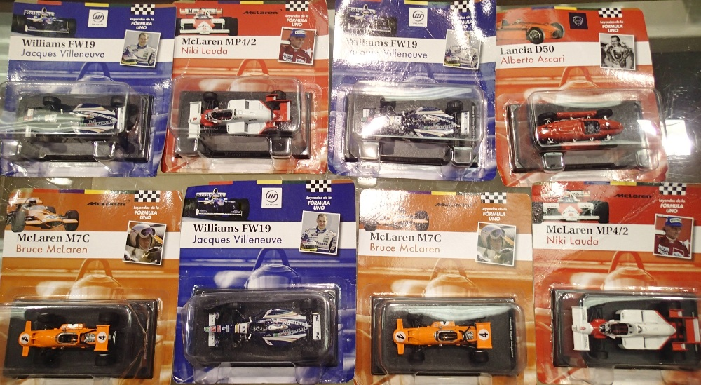 1.43 Scale x8 Bubble Carded Formula 1 Mixed Years Racing Cars. P&P Group 1 (£14+VAT for the first