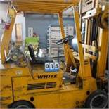 White Tri-Mast Forklift, 5,000lb Capacity