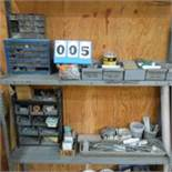 Metal Shelving Unit w/Misc. Hardware