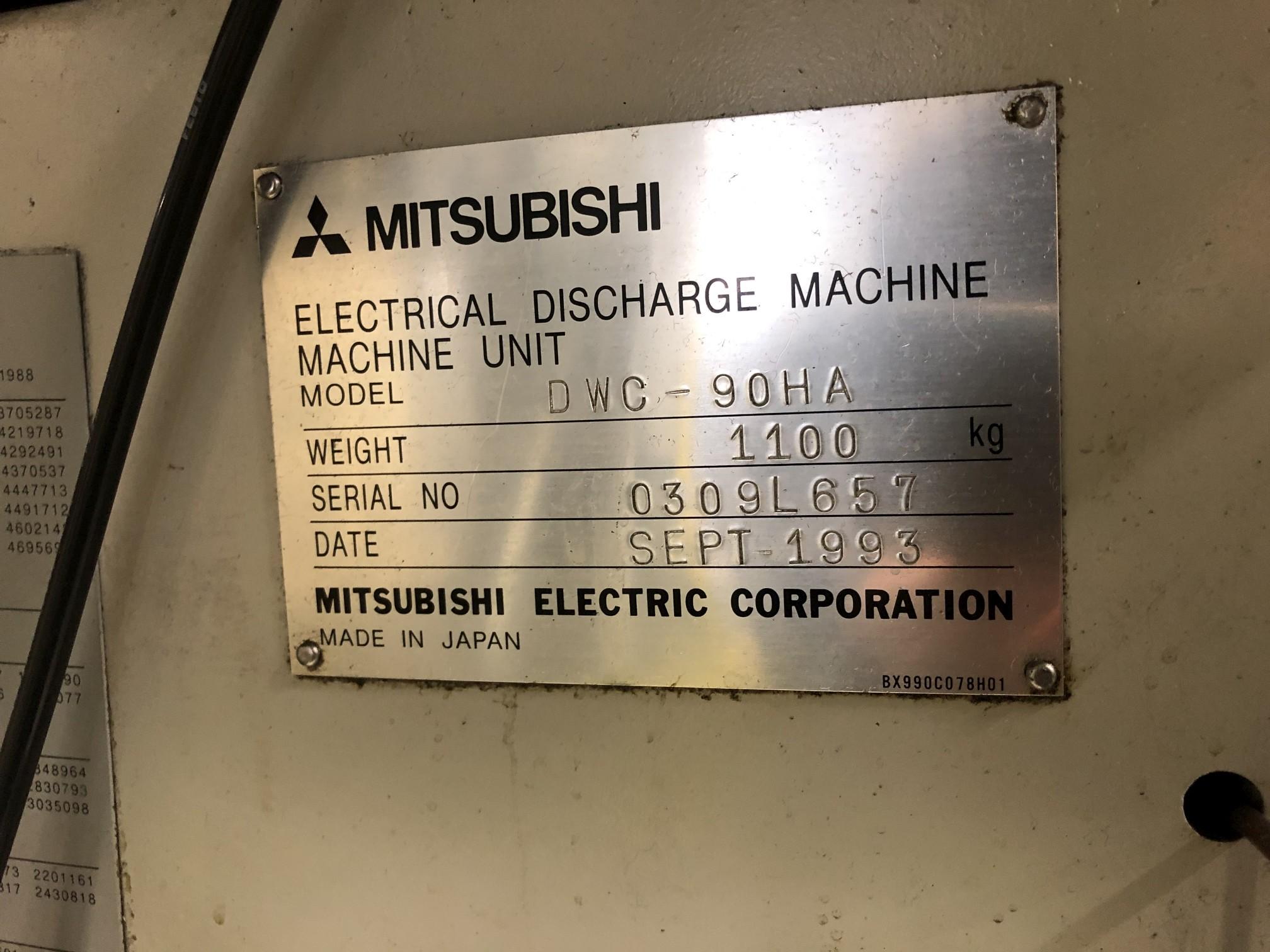 1993 Mitsubishi DWC90HA CNC Wire EDM - Image 15 of 16