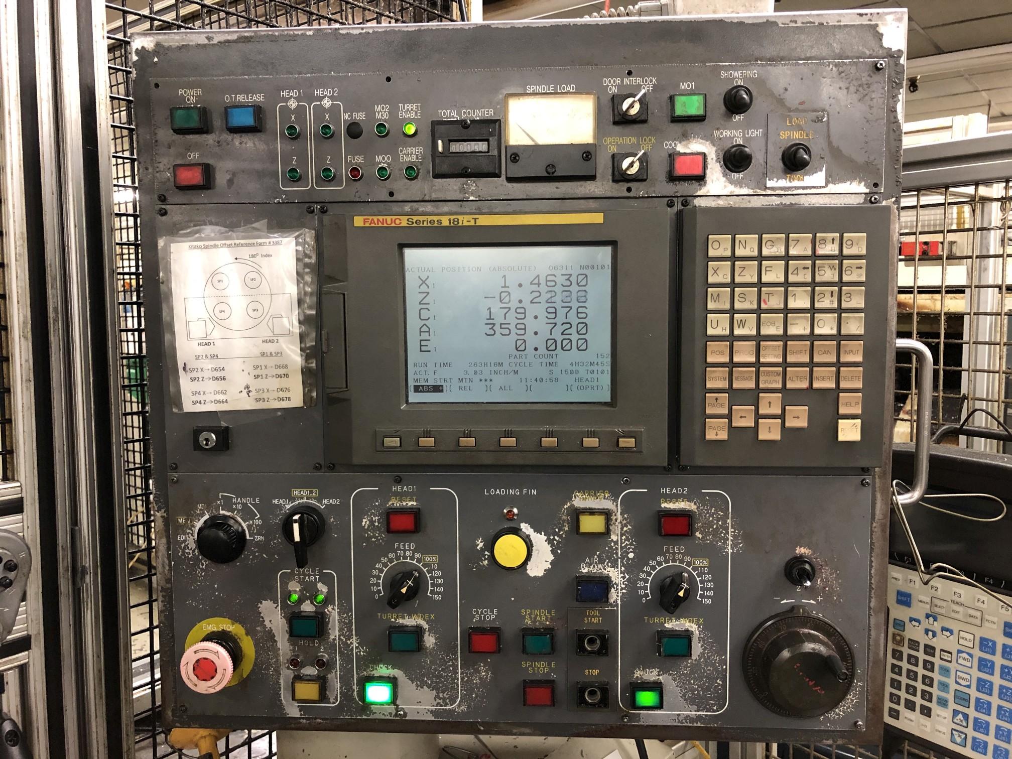 1999 Kitako MT4-200M Multi-Spindle CNC Turning Mill - Image 4 of 15