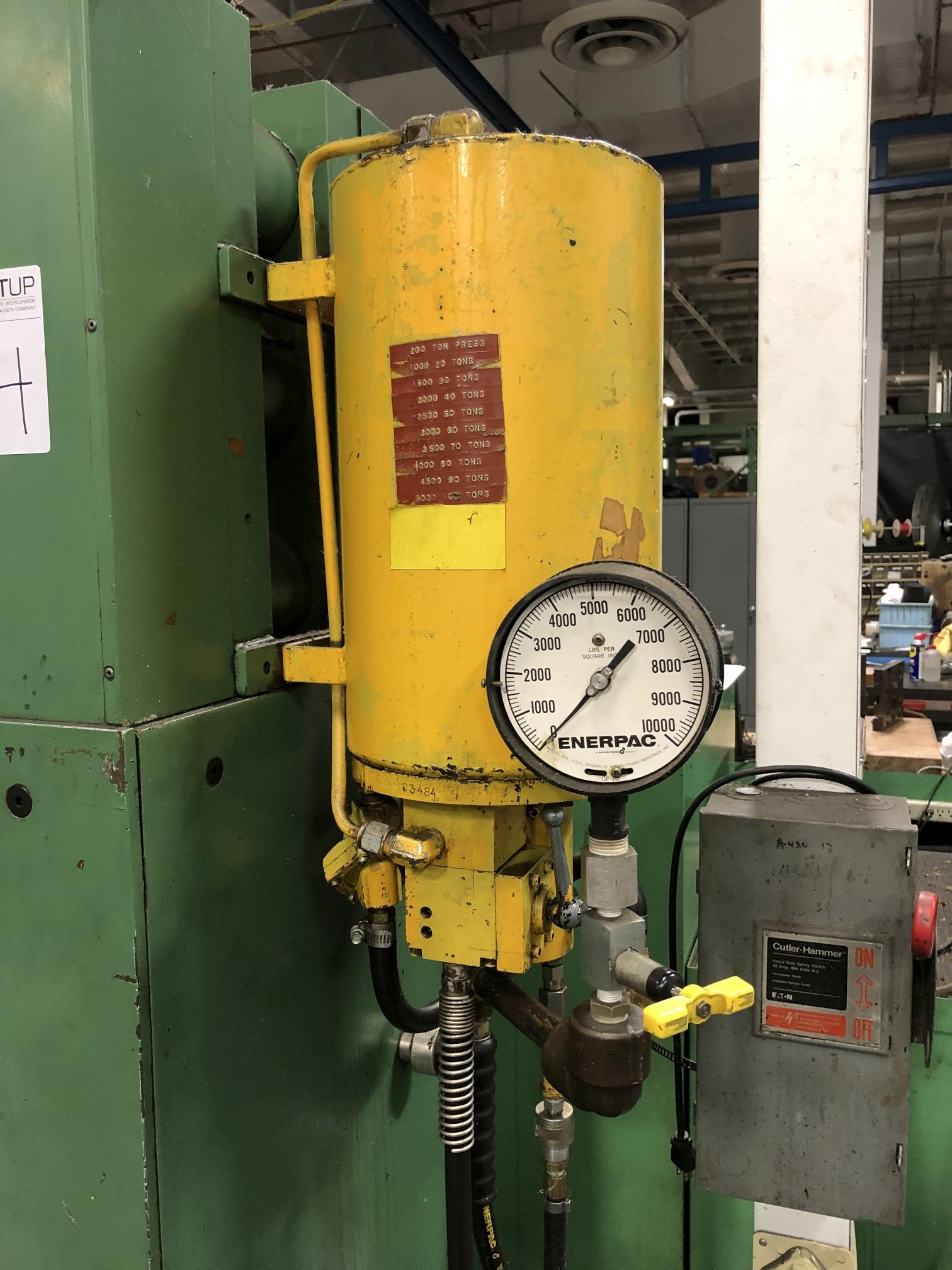 Dake 200 Ton Hydraulic Press - Image 3 of 6