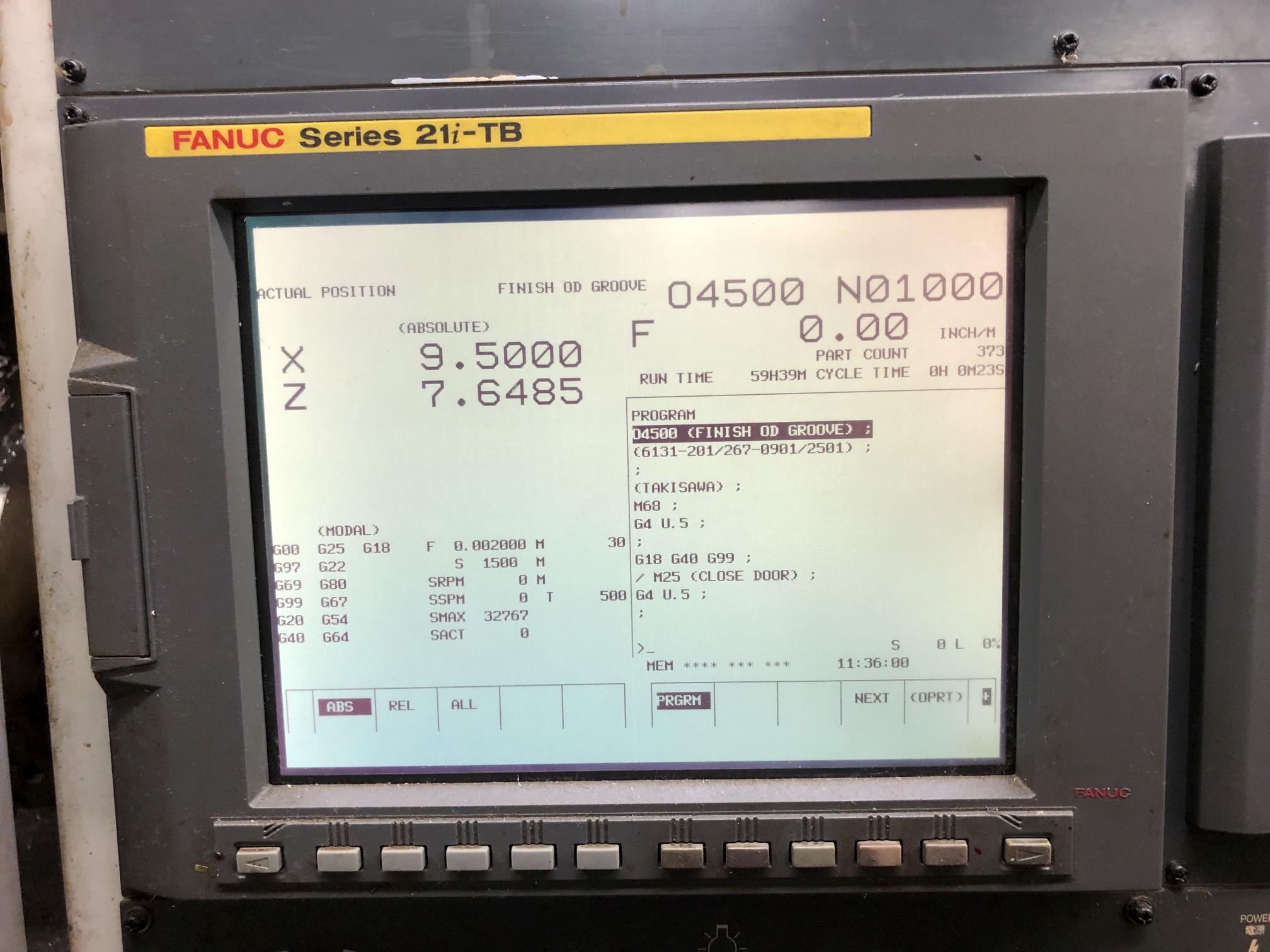 2006 Takisawa EX-106 CNC Lathe - Image 6 of 11