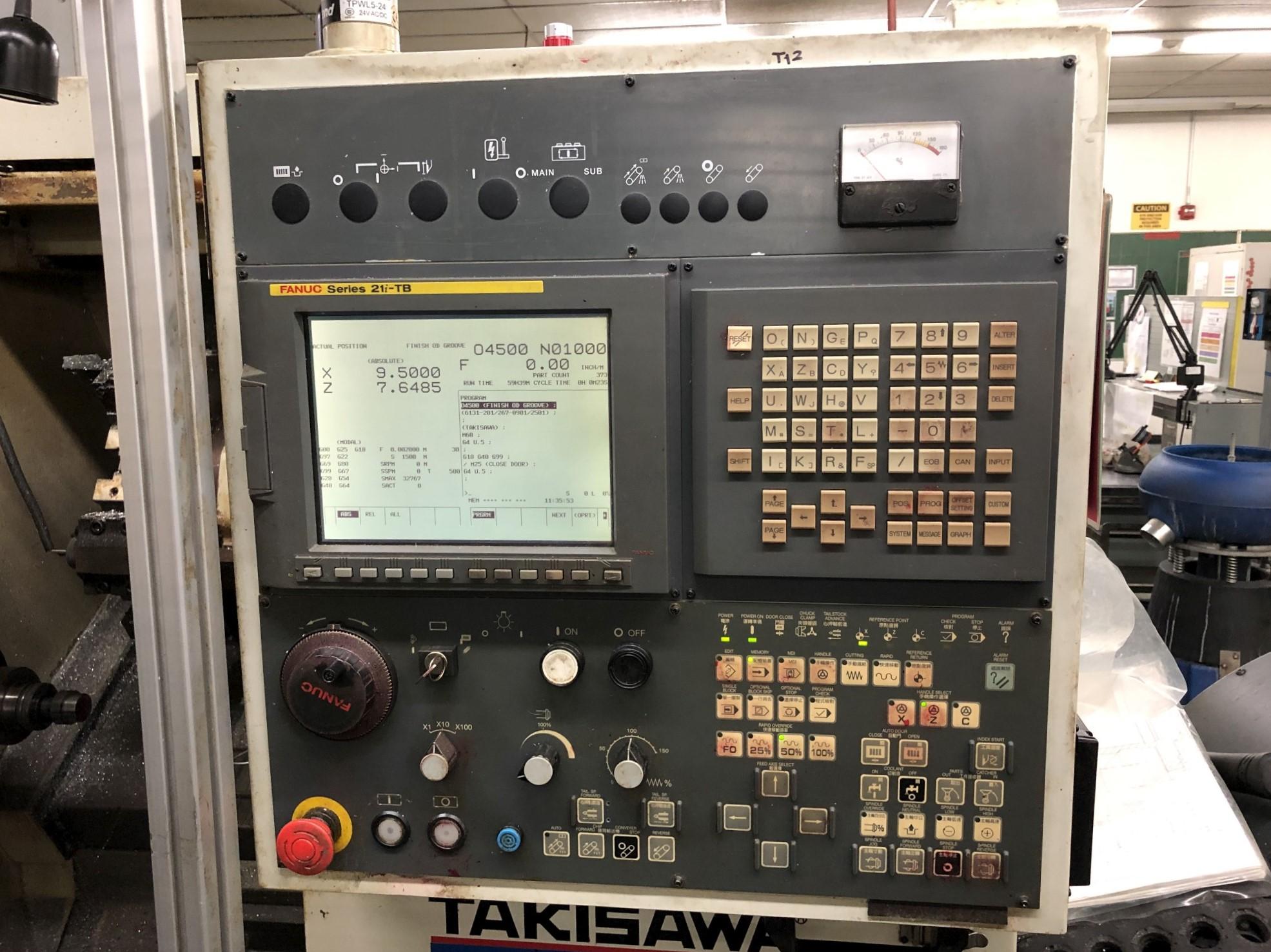 2006 Takisawa EX-106 CNC Lathe - Image 5 of 11