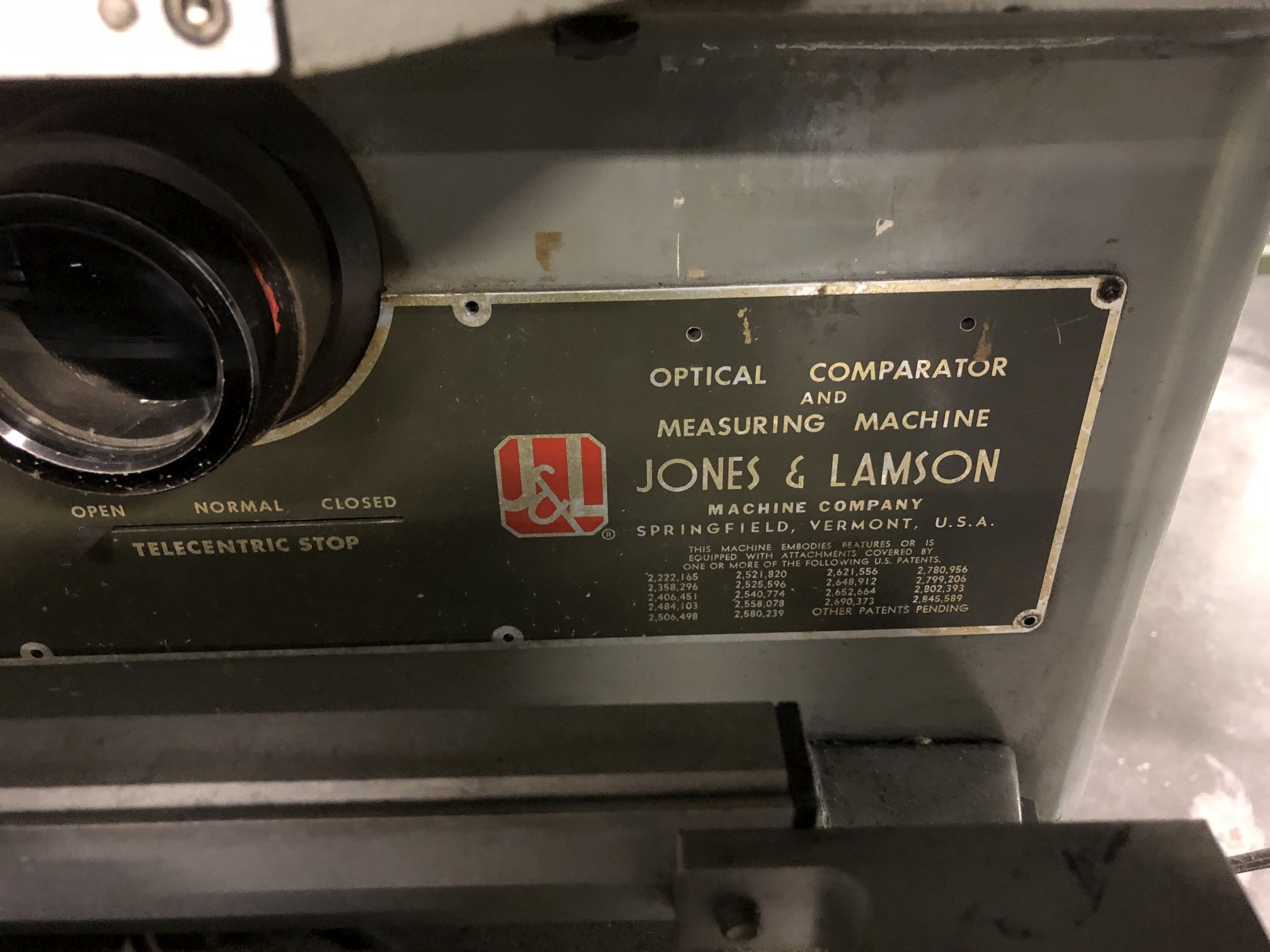 "Jones & Lamson 14"" Optical Comparator - Image 4 of 7"