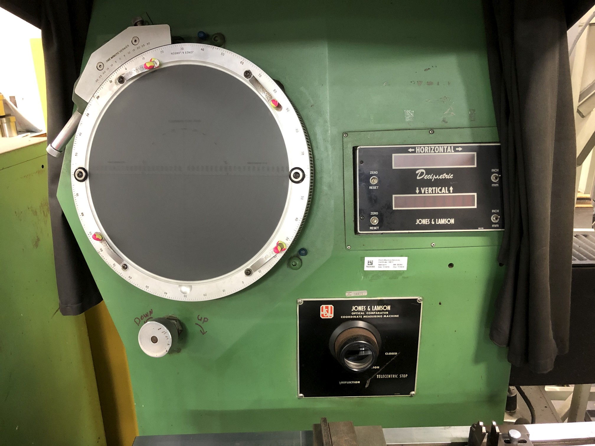 "Jones & Lamson 14"" Optical Comparator - Image 3 of 5"