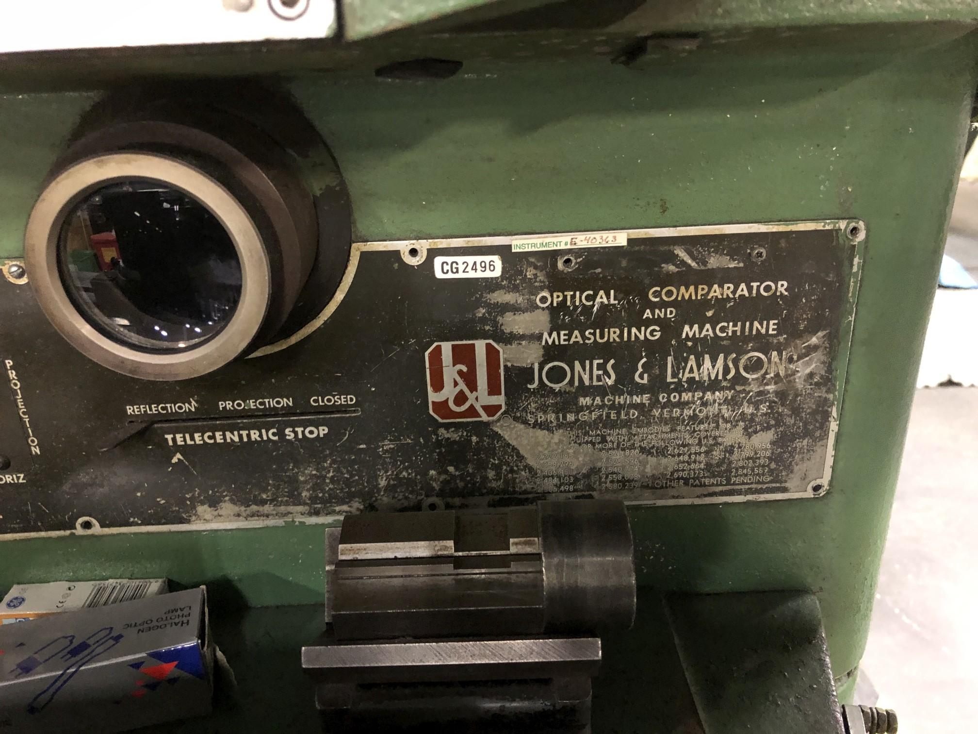 "Jones & Lamson 14"" Optical Comparator - Image 6 of 8"